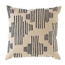black throw pillow. mod botanical throw pillow (black stripe) black