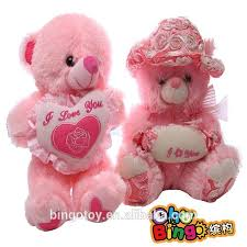 or valentine gift lover teddy bear plush toy with heart