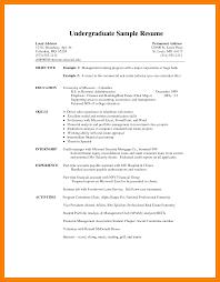 8 Undergraduate Cv Template Xavierax