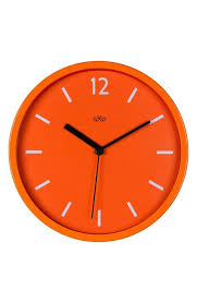 wolf wall clock orange wall clocks