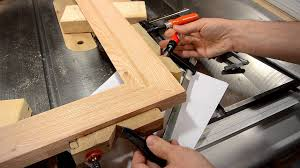 making a picture frame make molding on the table saw