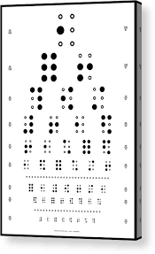 Braille Number Chart Snellen Chart Braille Acrylic Print