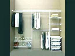 wardrobe shelving system parts hanging shelf closet maid track storage systems bq