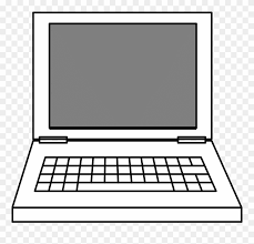 Computer Clip Art Computer Clip Art Simple Drawing Of Laptop Png Download