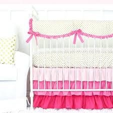 pink and gold dot ruffle crib bedding set polka baby nursery rooms light sets