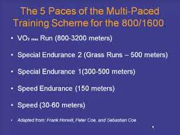Training Workouts For The 800 Meter And 1600 Meter Events