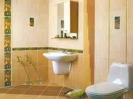 yellow tile bathroom bath wall designs