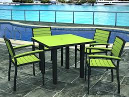 patio dining sets perfect for spring neon green patio table with 4 matching chairs hunter green outdoor furniture