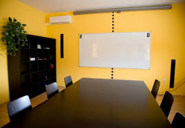 office space colors. nice design of office space with yellow color colors