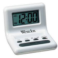 westclox digital quartz travel alarm clock