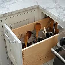 Stove Next to Kitchen Utensils Drawer