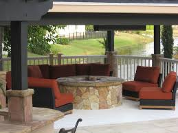 Fine Covered Patio With Fire Pit Will Be Similar To This But A Larger On Simple Design