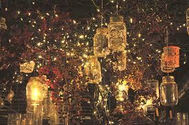 Garden wedding jar fairy lights. Image credit