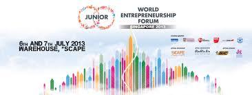 Sponsor Backdrop Design Junior World Entrepreneurship Forum 2013 2014 Event Design