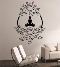 38 luxury sticker wall art design of yoga wall art