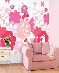 Small Picture Wall Decorating Pink and Purple Poppy