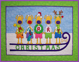 Very hairy christmas fabric