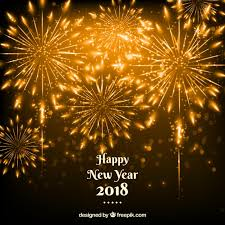 new years fireworks background. New Year Golden Fireworks Background Free Vector With Years