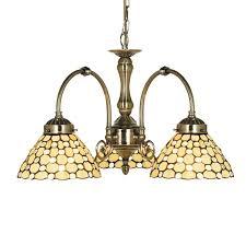 searchlight tiffany style raindrop 3 light ceiling pendant light