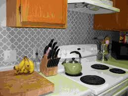 Kitchen Backsplash Wallpaper Wallpaper Backsplash Us House And Home Real Estate Ideas