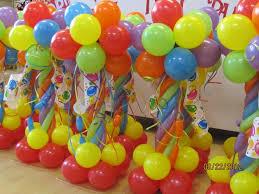 bright centerpieces for every table balloon columnsballoon