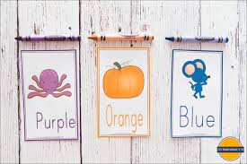 Designed specifically for young children, a great way to introduce basic colours. Free Printable Color Flashcards