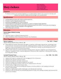 Resume Templates For Medical Assistant - Satisfyyoursoul.co