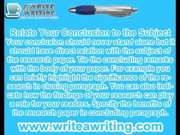how to write research paper conclusion research writing