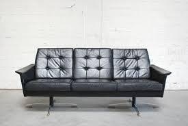vintage black leather sofa. Plain Black Vintage Black Leather Sofa 1960s 1 And Sofa E