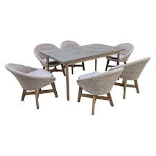 outdoor table and chairs. Leece 7 Piece Outdoor Dining Set Table And Chairs