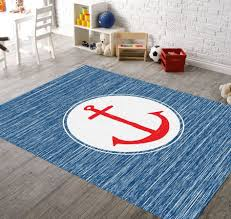 blue nautical round rugs