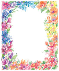 Paper With Flower Border Flower Paper Border Magdalene Project Org
