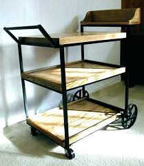 rolling office cart. Office Cart Rolling Vintage Wood With Drawers Depot Home