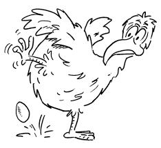 De Kip Heeft Een Ei Gelegd Kleurplaat Gratis Kleurplaten Printen