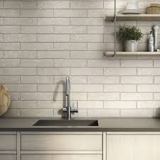ivory brick effect tiles with vintage