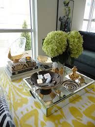 yellow ikat ottoman coffee table