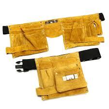 leather electrician tool waist bag 8 14 pockets carpenter electrician tool pouch cod