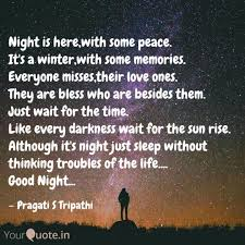 Night Is Herewith Some P Quotes Writings By Pragati S