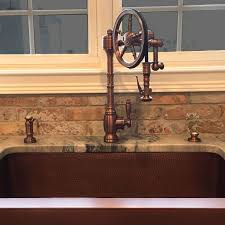 copper sink faucet. Brilliant Copper Waterstone Wheel Faucet In Antique Copper Goes Great With The Copper Sink Inside Copper Sink