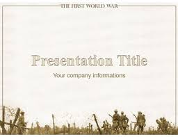 The First World War Free Military Powerpoint Template