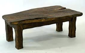black wood coffee tables handmade table chunky dark wooden square