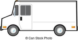van clipart. white delivery van - a typical american or truck used. clipart