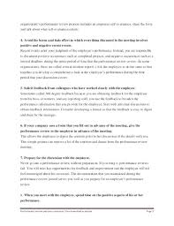Words For Employee Evaluation Employee Performance Review Examples Appraisal Template