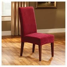 stretch pique short dining chair slipcover sure fit red