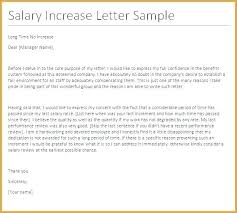 Request For Pay Raise Salary Adjustment Template Increment Letter Letter Format For Salary