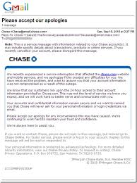Customer Service Apology Email Part 2 Chase Apologizes For Outage In Customer Email But Is