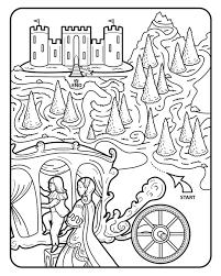 Animaux Coloriage Imprimer Chateau De Princesse Coloriage
