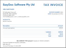 Sales Invoice Myob Sale Invoices Accounts Receivable Ezzybills