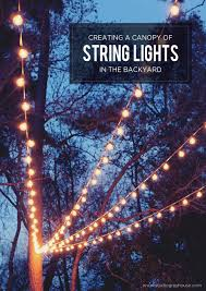 string lighting ideas. A Canopy Of String Lights In Our Backyard Design Patio Light Ideas Lighting N