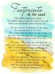 Sand Card Loving Memory Open Graveside Memorial Card Footprints In The Sand